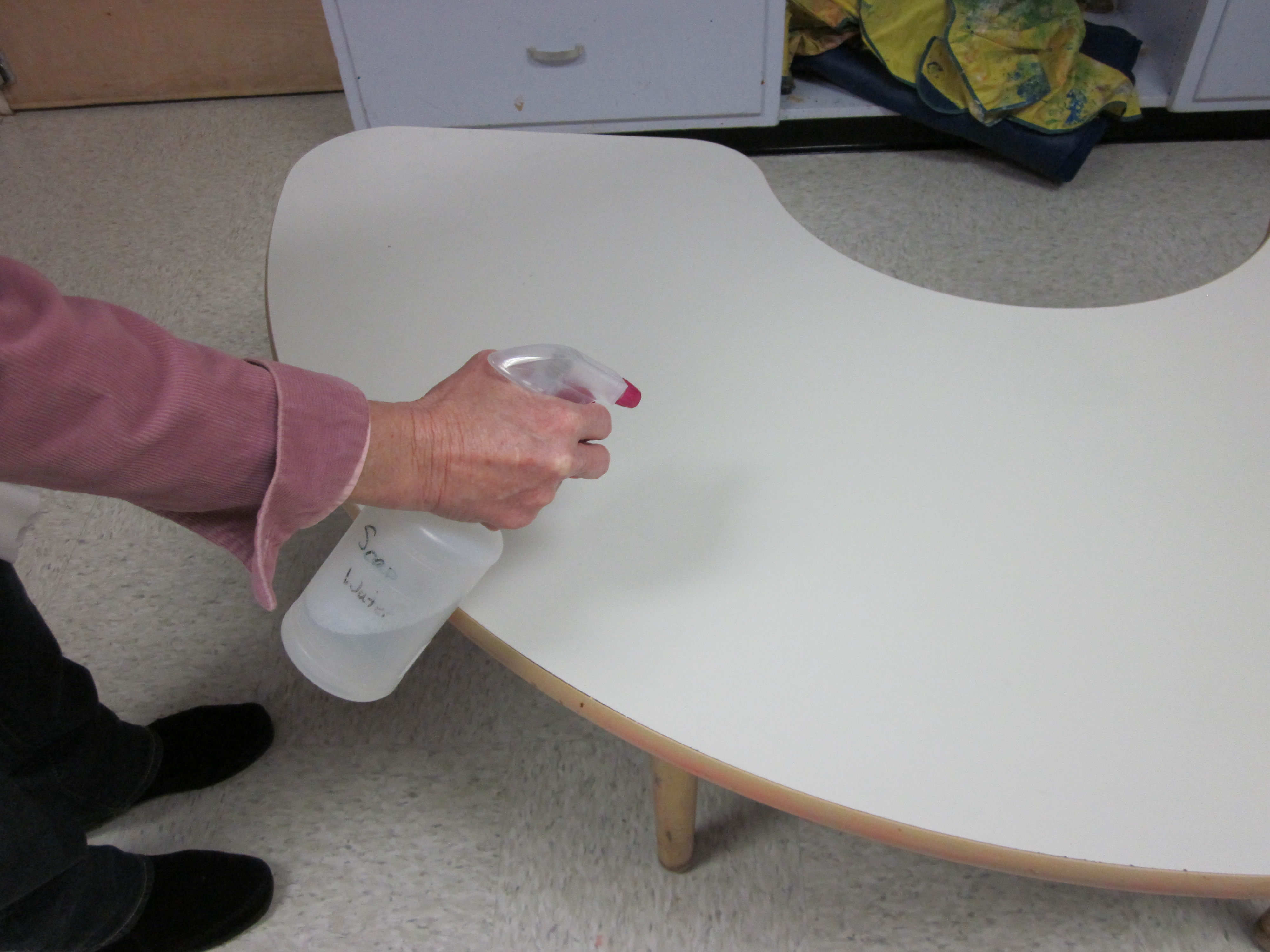 Disinfect Child Care Surfaces with a Bleach and Water
