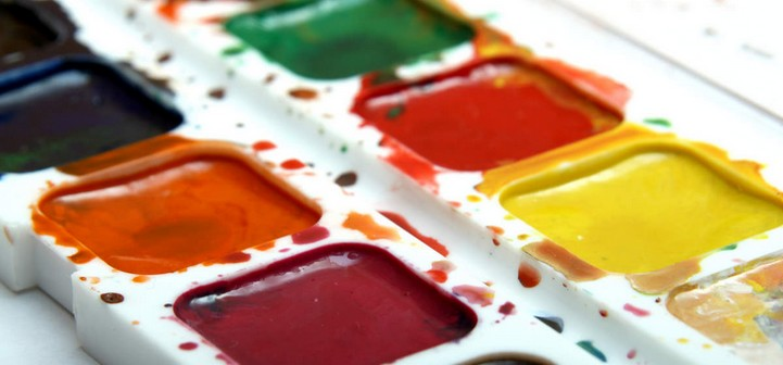 Watercolor paints for children