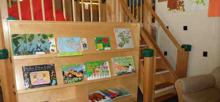book center with loft