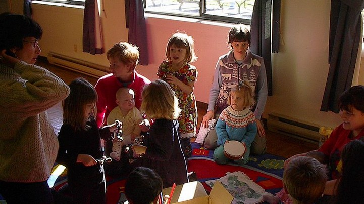 Children doing music