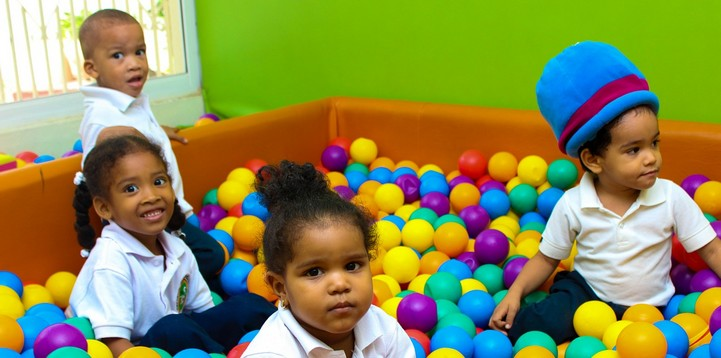 Children in ball pit